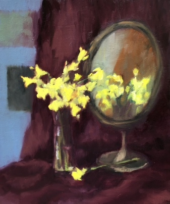 Daffodils and miror
